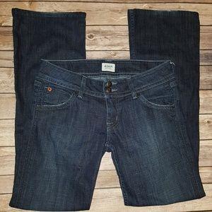 Hudson Jeans Bootcut Dark Denim Size 28 Flap Pocke